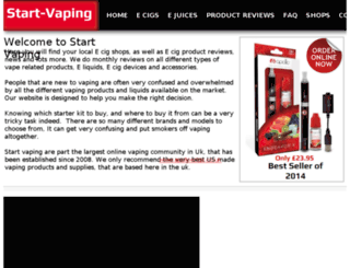 start-vaping.co.uk screenshot