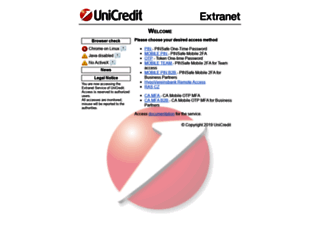 start.extranet.unicredit.eu screenshot