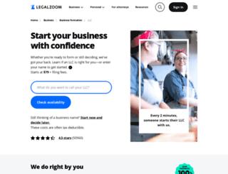 start.legalzoom.com screenshot