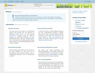 start.primusportal.de screenshot