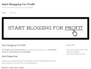 startbloggingforprofit.com screenshot