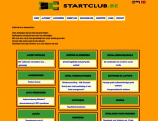 startclub.be screenshot