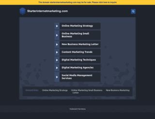 starterinternetmarketing.com screenshot