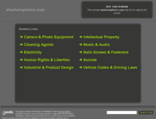 startersphere.com screenshot