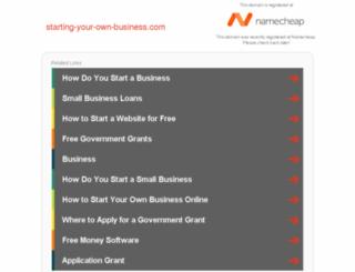 starting-your-own-business.com screenshot