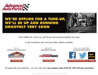 startingline.advancestores.com screenshot