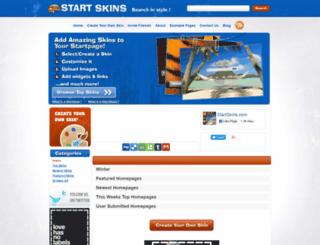 startpageskins.com screenshot