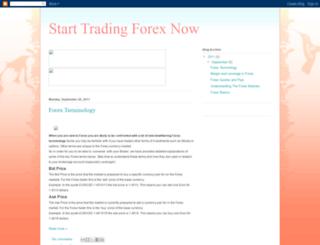 starttradingforexnow.blogspot.com screenshot