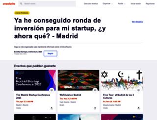 startup-experience-madrid.eventbrite.es screenshot