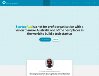 startupaus.org screenshot