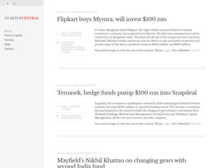 startupcentral.in screenshot