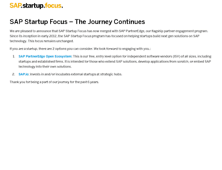 startupfocus.saphana.com screenshot