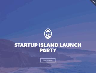 startupisland.splashthat.com screenshot