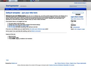 startupmaster.wikidot.com screenshot