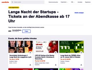 startupnight.eventbrite.de screenshot
