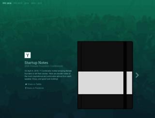 startupnotes.org screenshot