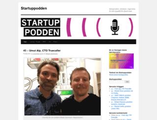 startuppodden.se screenshot