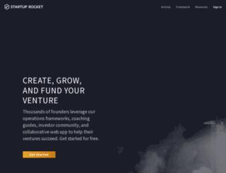 startuprocket.com screenshot