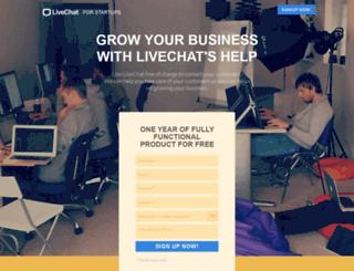 startups.livechatinc.com screenshot