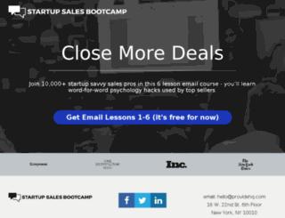 startupsales.usefedora.com screenshot