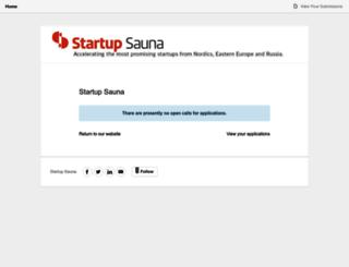 startupsauna.submittable.com screenshot