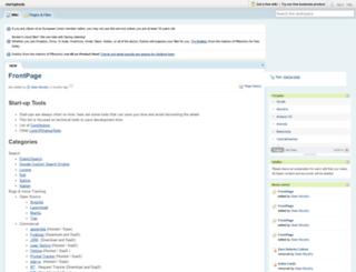 startuptools.pbworks.com screenshot