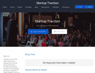 startuptraction.sproutconnections.com screenshot