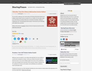 startuptunes.wordpress.com screenshot