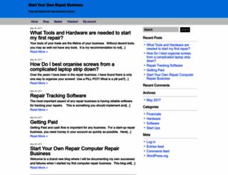 startyourowncomputerepairbusiness.com screenshot