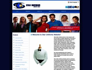 staruniformdxb.com screenshot