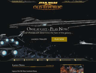 starwarstheoldrepublic.com screenshot