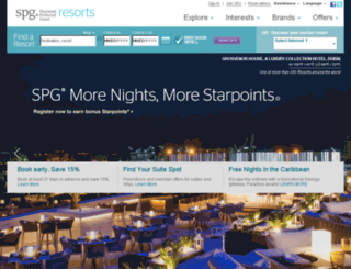 starwoodresorts.com screenshot