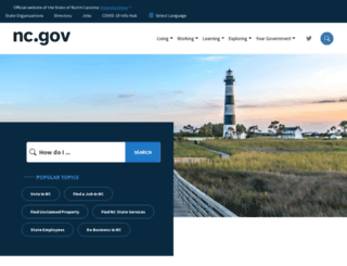 state.nc.us screenshot