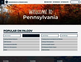 state.pa.us screenshot
