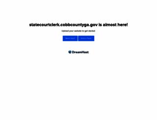 statecourtclerk.cobbcountyga.gov screenshot