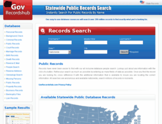 stategovrecordshub.com screenshot