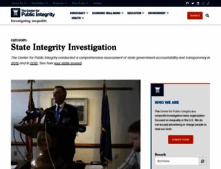 stateintegrity.org screenshot