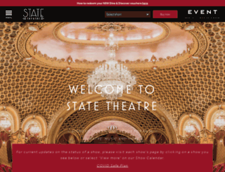 statetheatre.com.au screenshot
