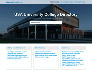 stateuniversity.com screenshot