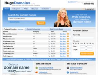 static.hugedomains.com screenshot