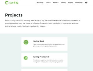 static.springsource.org screenshot
