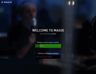 staticpages.magix.com screenshot