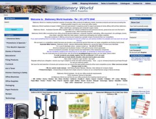 stationeryworld.net.au screenshot