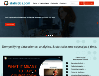 statistics.com screenshot