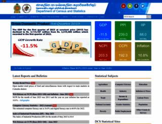 statistics.gov.lk screenshot