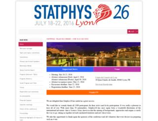 statphys26.sciencesconf.org screenshot