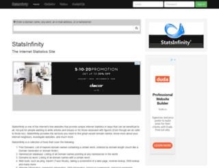statsinfinity.com screenshot
