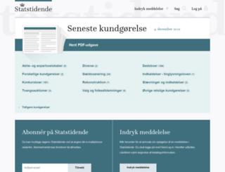 statstidende.dk screenshot