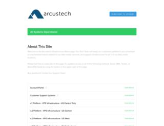 status.arcustech.com screenshot