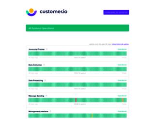 status.customer.io screenshot